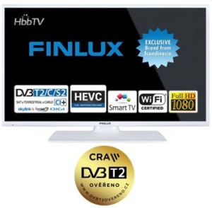 Finlux LED TV TV32FWC5760, SAT, WIFI, Skylink live, Full HD,ultratenká, bílá