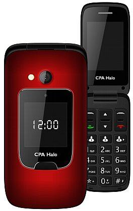 myPhone 1015 SENIOR - CPA Halo 15, červený + nabíjecí stojánek (véčko)