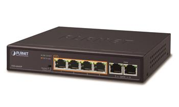 Switch PLANET FSD-604HP 4x PoE 802.3at 60W+ 2x 100Base-TX