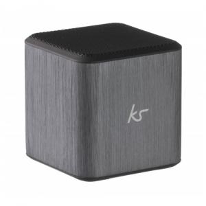 Reproduktor KITSOUND CUBE s mikrofonem, 3,5 mm jack, černo-stříbrný