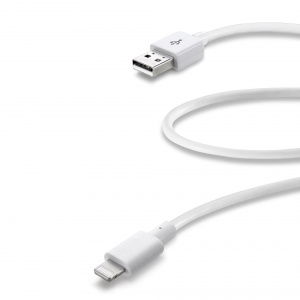 Datový USB kabel CELLULARLINE s konektorem Apple Lightning, 60 cm, MFI, bílý