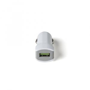CL autonabíječka CELLY Turbo s USB výstupem, 2,4 A, bílá