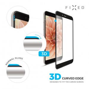 Ochranné tvrzené sklo FIXED 3D Full-Cover pro Samsung Galaxy A20e, s lepením přes celý displej, černé
