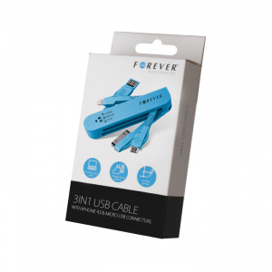 DATOVÝ KABEL FOREVER 3 IN 1 PRO iPHONE4/iPHONE5/MICRO USB