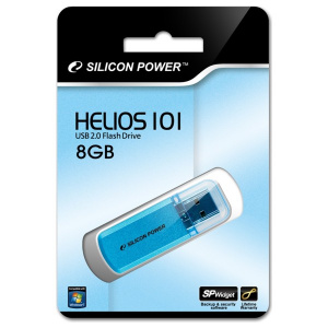 USB flash disk Silicon Power Helios 101, 8GB, USB 2.0, modrý