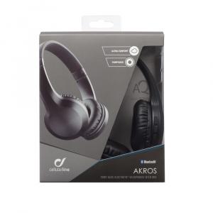 Bezdrátová sluchátka CELLULARLINE AKROS, AQL® certifikace, extra basy, černá