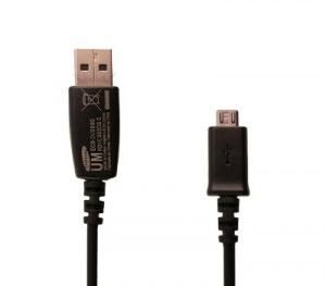 Data kabel Samsung ECBDU28BE microUSB 0,8m black/černá (BULK)