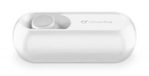 Bluetooth headset Cellularline Power Mini s nabíjecím pouzdrem, bílý