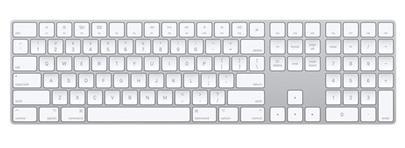 Klávesnice Bluetooth Apple Magic Keyboard s číselnou klávesnicí White - česká