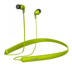 Bluetooth ergonomická stereo sluchátka CELLY NECK, dlouhá výdrž baterie, multipoint, zelená