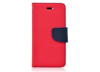 Pouzdro typu kniha pro Nokia 6, červeno-modrá (BULK)