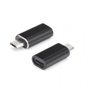 Redukce iPhone 5, 5S, 6, 6S, 7, 7P, 8, 8P, X / micro USB barva černá