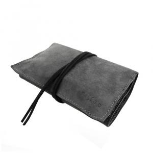 Kožené pouzdro FIXED pro cigaretový tabák, papírky a filtry, černá štípenková kůže