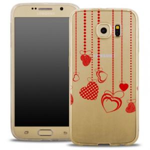 Pouzdro Back Case FASHION Samsung A510 Galaxy A5 (2016) transparentní - srdíčka
