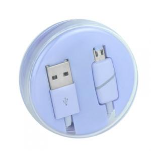 Datový kabel BOX micro USB barva fialová