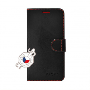 Pouzdro typu kniha FIXED FIT pro Nokia 6.1 Plus, černé