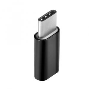 ADAPTÉR MICRO USB/USB-C ČERNÝ