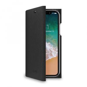 Pouzdro typu kniha CELLY Shell pro Apple iPhone X/XS, černé