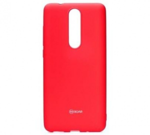Kryt ochranný Roar Colorful Jelly pro Nokia 5.1, tmavě růžová