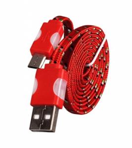 Datový kabel micro USB - Svítící barva červená