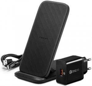 Spigen F316W Qi Fast Wireless Charger + Stand 15W