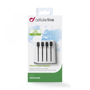 Univerzální cestovní adaptér CellularLine pro všechny světové elektrické sítě