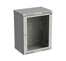 Rozvaděč nástěnný SENSA 15U 400mm, dveře sklo,RAL 7035, SENSA-15U-64-11-G