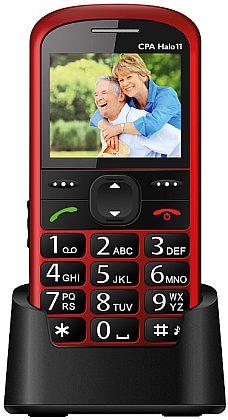 myPhone 1011 SENIOR - CPA Halo 11, červený