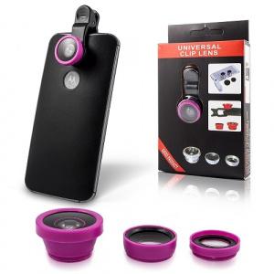 Fish Eye 3v1 pro smartphone a tablet (makro, široká, rybí oko), barva černá / modrá