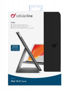 """Pouzdro se stojánkem CellularLine FOLIO pro Apple iPad 10,2"""" (2019), černé"""
