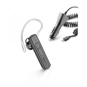Bluetooth headset CellularLine Mono s autonabíječkou, černý