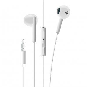 Pecková sluchátka FIXED EGG4 s mikrofonem a ovladačem hlasitosti, voděodolnost iPX3, bílá