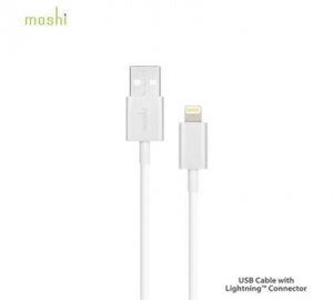 Data kabel Moshi Lightning™ konektor 1 m, White/bílá