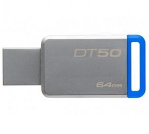 Flash disk USB 64GB Kingston DT50 USB 3.0, kovová, modrá