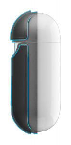 Ochranný kryt Cellularline Defender pro Apple AirPods 1&2, černé