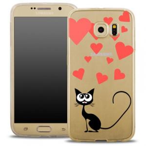 Pouzdro Back Case FASHION Samsung A510 Galaxy A5 (2016) transparentní - kočka srdíčka