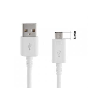 Datový kabel micro USB barva bílá (8mm konektor)