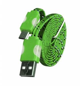 Datový kabel micro USB TYP- C - Svítící barva zelená