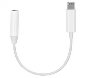 Adapter Apple iPhone Lightning - Jack 3,5mm, bílá