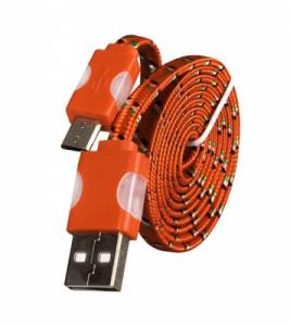 Datový kabel micro USB TYP- C - Svítící barva oranžová