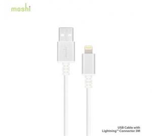 Data kabel Moshi Lightning™ konektor 3 m, White/bílá