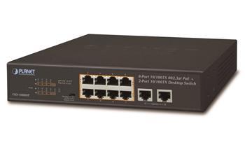 Switch PLANET FSD-1008HP 8x PoE 802.3at 120W+ 2x 100Base-TX