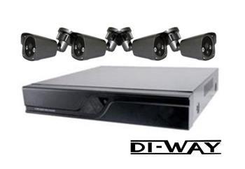 Zvýhodněný set: DI-WAY Analog 4+1 kamerový systém