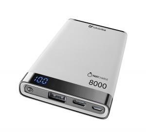 Prémiová powerbanka CellularLine FREEPOWER MANTA S, 8000mAh, USB-C + USB port, bílá