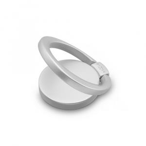 Prstýnek pro mobilní telefony FIXED Loop se stojánkem, stříbrný