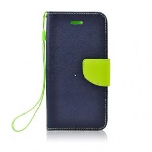 Pouzdro FANCY Diary TelOne Nokia 5.1, 5 (2018) barva modrá/limetka
