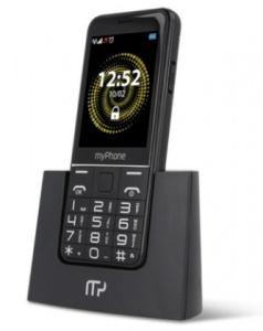 myPhone Halo Q SENIOR - stříbrný s nabíjecím stojánkem