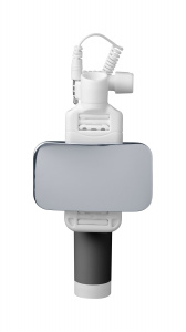 Teleskopická selfie tyč CellularLine Total View s otočným zrcátkem, černá