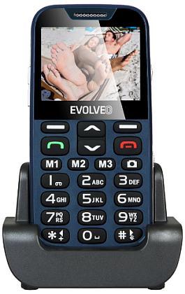 Evolveo EP-600 EasyPhone XD, Blue pro seniory + nabíjecí stojánek
