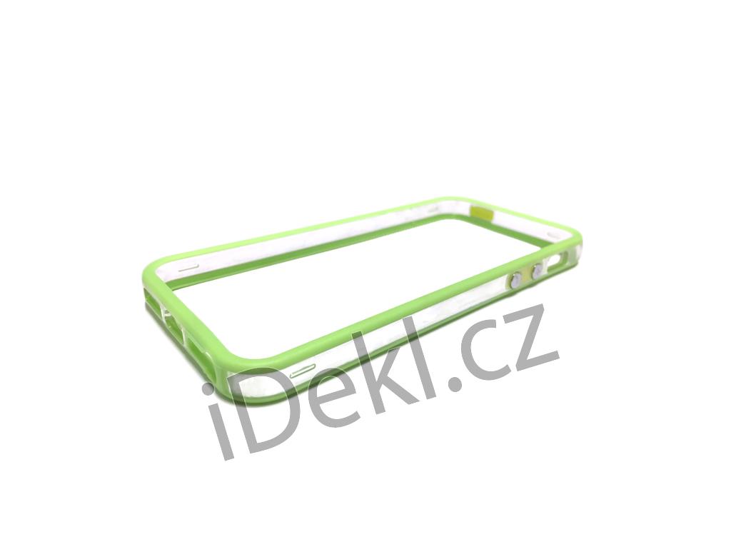 Ochranný plastový rámeček iPhone 5S/SE-zelená